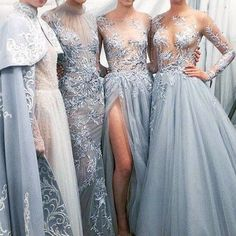 Light Sky Blue Sexy Long Prom Dresses, Evening dresses, light blue tulle prom dresses, long prom dresses baby blue, prom dresses with long sleeves Bridesmaid Dresses, Prom Dresses, Formal Dresses, Wedding Dresses, Flowy Dresses, Formal Wear, Bridesmaids, Vestidos Vintage, Mode Inspiration