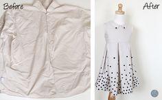 Tutorial - Polka Dot Dress Upcycle - The Sewing Rabbit