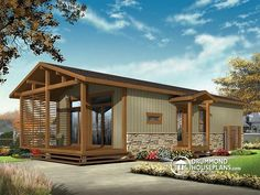 Simple vacation house plans for limited budget. Beautiful & affordable vacation home plans, small cabin plans and cottage plans! Cottage House Plans, Modern House Plans, Small House Plans, Cottage Homes, Cottage House Designs, Cheap House Plans, Br House, House Floor, Drummond House Plans