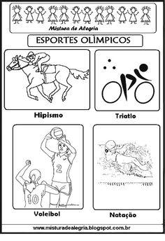 Aqui estão os esportes dos jogos olímpicos de 2016. Trabalhe em sala de aula com os alunos, com todos os conteúdos fazendo a interdisciplin...