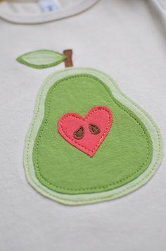 Pear Applique using felt