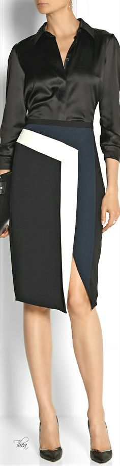 Peter Pilotto ● sculptural pencil skirt
