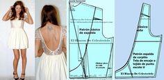 El Rincon De Celestecielo: Tipos de escotes. Escote en U. Desarrollo de modas. Convención del diseño Easy Sewing Patterns, Mccalls Patterns, Sewing Sleeves, Dinner Gowns, Techniques Couture, Pattern Drafting, Blouse Patterns, Dressmaking, Diy Clothes