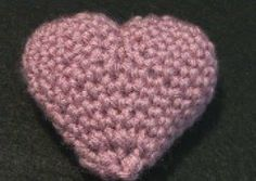 Crochet Valentine Puffy Heart - Small | Crochet Geek - Free Instructions and Patterns