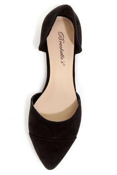 Dolley 03 Black D'Orsay Pointed Flats - $21.00