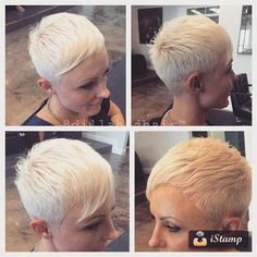 Mixing things up on Melissa!!! Had a lot of fun cutting this edgy pixie yesterday! #hair ##haircut #hairstyle #shorthair #ahorthairstyle #shorthairphoto #pixie #pixiehaircut #nothingbutpixies #thisismyart #thestandardhairstudio #imakehotgirlshotter