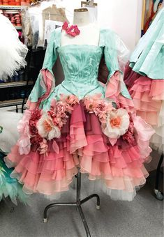 The Australian Ballet: costume for a Garland Dancer in David McAllister's new Sleeping Beauty.