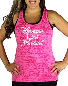 Disneys Lost Princess Womens WHITE INK Burnout Tank Top Pink Large *** You can get more details by clicking on the image.