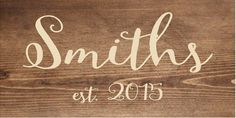 Custom Name Sign, Last Name, Wedding Decor Wood Sign or Canvas Wall Hanging…