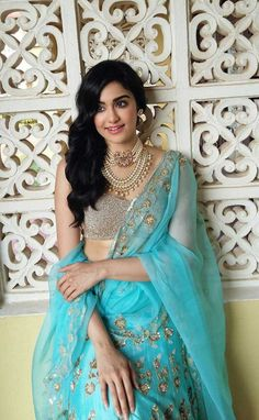 Adah Sharma Traditional Photoshoot in Gorgeous Blue Saree HD Wallpapers and Images of Birthday Girl Indian Bridal Lehenga, Indian Bridal Makeup, Indian Bridal Wear, Indian Beauty Saree, Beautiful Bollywood Actress, Beautiful Indian Actress, India Fashion, Girl Fashion, Classy Fashion