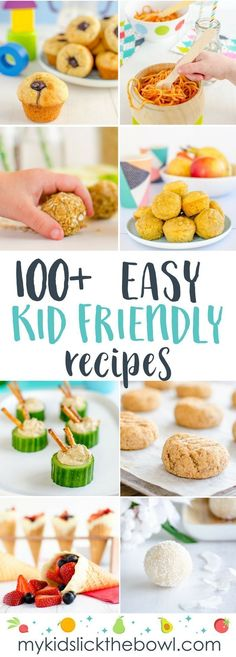 Kid-Friendly Recipes, Recipe Index of over 100 Easy Healthy Recipes that are perfect for kids and picky eaters dieetrecepten Cooking With Kids Easy, Healthy Snacks For Kids, Healthy Foods To Eat, Easy Healthy Recipes, Healthy Cooking, Baby Food Recipes, Healthy Kid Friendly Recipes, Cooking Light, Toddler Recipes