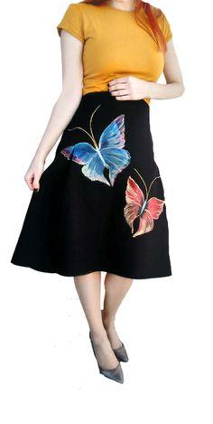 Womens Modest Pleated Skirt Custom made Skirt by DorasDressRoom