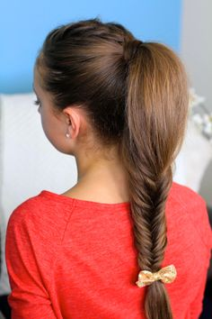 Fluffy Fishtail Braid | Cute Braids and more Hairstyles from CuteGirlsHairstyles.com