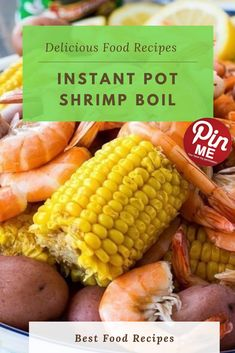INSTANT POT SHRIMP BOIL  Immediate pot low us of a boil is a splendidly spicy one pot meal with masses of purple potatoes, corn, sausage, and shrimp. Once the whole thing gets tired, pour it out on a big serving platter or some newspapers and give it some other sprinkling of seasoning.  #easycrockpotmeals #crockpotchicken #crockpotchickenrecipes #BestFood Potted Shrimp, Purple Potatoes, Good Food, Yummy Food, Chicken Salad Recipes, Cookers, One Pot Meals, Serving Platters, Instant Pot