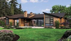 Modern story house plans and photos, modern house plans gregory la vardera architect, think outside the box with modern house plans, new home design Contemporary Style Homes, Contemporary House Plans, Modern House Plans, Modern House Design, House Floor Plans, House Plans One Story, House Plans And More, One Story Homes, Story House