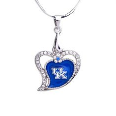 University of kentucky wildcats uk crystal pendant necklace kentucky wildcats heart pendant necklace sciox Gallery