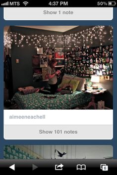 Tumblur room. I would like maybe a little bit more light, but I love the Christmas lights and pictures.