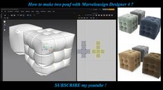 Hi. Make three Pouf with Marvelousdesigner . I hope you like it and SUBSCRIBE my youtube !