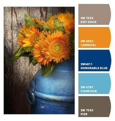 Paint colors from Chip It! by Sherwin-Williams. Chipcard by Reni Apostolova. Blue Colour Palette, Blue Color Schemes, Color Azul, Color Combos, Brown And Cream Living Room, Living Room Orange, Living Room Color Schemes, Paint Colors For Living Room, Royal Blue Couch