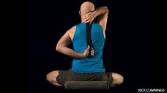 Release workday upper crossed syndrome pain with four relaxing poses to relieve a tight and weak neck.