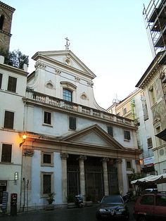 Sant'Eustachio is a Roman Catholic titular church and minor basilica in Rome, named for the martyr Saint Eustace. The church was founded in the 8th century, or possibly even earlier. The church was restored (including the addition of a new campanile). at the end of the 12th century during the pontificate of Pope Celestine III (1191–1198), who also deposited the relics of the martyr in the church
