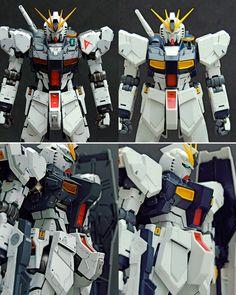 MG 1/100 Nu Gundam Ver.ka -CustomizedBuild   Modeled by shunneige        CLICK HERE TO VIEW FULL POST... Custom Gundam, Gunpla Custom, Gundam Tutorial, Thundercats, Gundam Model, Mobile Suit, Art Model, Plastic Models, Custom Paint