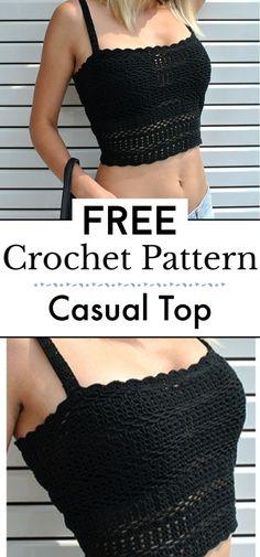 Bikinis Crochet, Crochet Halter Tops, Crochet Summer Tops, Crochet Shirt, Crochet Crop Top, Diy Crochet Top Pattern, Free Pattern, Crochet Patterns Free Tops, Diy Crochet Bikini Top