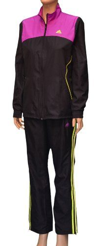 d00f58896ebfa Adidas Women s 3S Wind Warm Up Pants and Jacket Set-Black Purple-Small.  From  adidas. List Price   95.00. Price   79.98