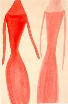 Untitled drawing by Silvia Bächli