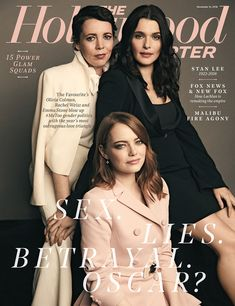 'The Favourite' ain't your mother's costume drama as Emma Stone, Rachel Weisz and Olivia Colman preside over a royal spectacle of cunning ladies and dandied-up men that blows up and gender politics with its outrageous love triangle. Rachel Weisz, The Hollywood Reporter, In Hollywood, Gender Politics, Cinema, New Fox, Vogue Covers, Oscar Winners, Emma Stone