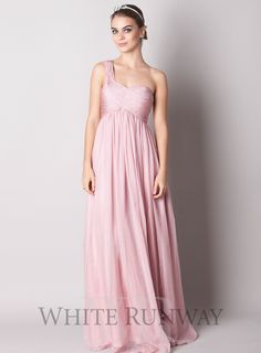 One Shouldered Chiffon Bridesmaid Dress | Formal Dresses Online
