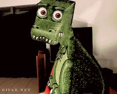 "mrsdentonorahippo: ""entemos: "" gifak-net: "" Amazing T-Rex Illusion! "" STOP STOOOOOOOOOOp "" Why you be messin' with me! """