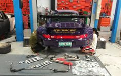 Victoria getting some new goodies to make her handle better! Rear kinematic arms, rear sway bar, solid subframe tilt kit.#carpornracing #rwb #rwbmanila #rauhweltbegriff #porsche #993 #victoria