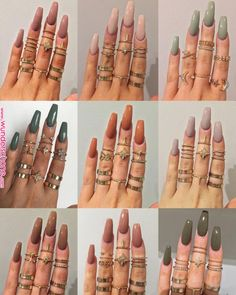 125 unique fall nail art design to be different style -page 40 > Homemytri. Fall Nail Art Designs, Black Nail Designs, Fall Acrylic Nails, Autumn Nails, Gold Glitter Nails, Red Nails, Polish Nails, Collage, Style Glam