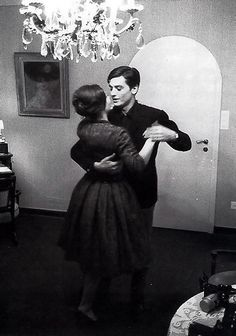 Romy Schneider and Alain Delon, 1950, Tancrou