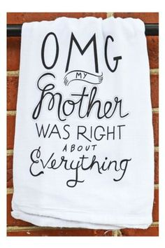 Dish Towel Omg, Where would you hang this? http://keep.com/dish-towel-omg-by-kat_shoptiques/k/0yENY-ABF-/