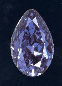 The Tereschenko Blue Diamond (Терещенко). 42.92 carat, pear-shaped. Its original owners were the Tereschenko's, a family of sugar magnates in pre-communist Russia. In 1915, Mikhail Tereschenko instructed Cartier to mount the gem as the centerpiece of a necklace containing a variety of fancy colored diamonds.