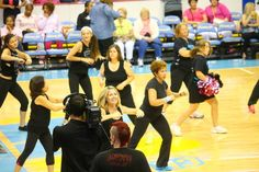 PomWorks love to Zumba!!!! with The Zumba Team during halftime at the Chicago Sky basketball game 8/23/13