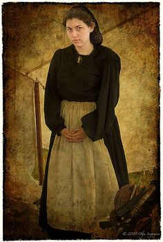 Young Lady in Civil War Re-enactment, via Flickr.