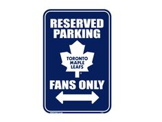 Toronto Maple Leafs Reserved Parking Sign from Team Sports. Click now to shop NHL Automotive Accessories. Nhl Hockey Jerseys, Hockey Memes, Hockey Players, Reserved Parking Signs, Maple Leafs Hockey, Pittsburgh Penguins Hockey, Red Wings Hockey, Philadelphia Flyers, Toronto Maple Leafs