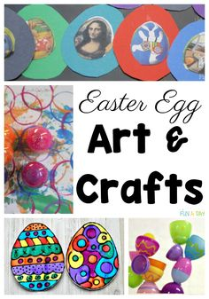 A huge collection of over 50 Easter egg activities for kids (and their teachers or parents!) to enjoy this spring. The activities include playful learning, art, crafts, and even some decorating ideas . all about Easter eggs! Easter Activities For Preschool, Early Learning Activities, Creative Activities For Kids, Creative Play, Sensory Activities, Easy Arts And Crafts, Art Crafts, Toddler Crafts, Crafts For Kids