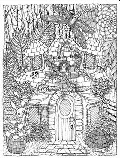 "Detailed Coloring Pages For Adults | IrelandBrady - Musings To Ponder: ""Humming Belles"" Starter Kits - a $ ..."