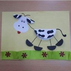Here are the top 9 Cow Craft ideas for kids and preschoolers. Cow crafts are perfect crafts to show kids how a cow looks like. Kids Crafts, Farm Crafts, Animal Crafts For Kids, Toddler Crafts, Projects For Kids, Art For Kids, Arts And Crafts, Cow Craft, Art N Craft