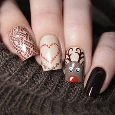 Amazing winter nails by @aissandra using stamping plate MoYou-London - Fashionista 03 that you can get from WhatsUpNails.com (link in bio). Shipping worldwide!
