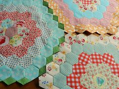 Color patterned hexies