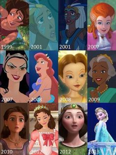 Disney Queens. Mainly good except Narissa
