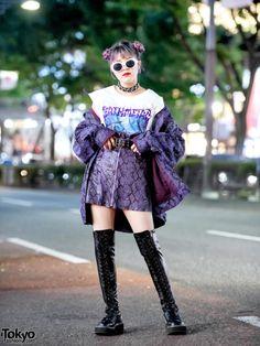 15-year-old Japanese student Megumi on the street in Harajuku... by  #TokyoFashion #TokyoStyle