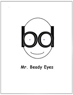 Letter Formation Associations - Mr Beady (b.d.) Eyes