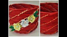 TUTORIAL, cos impletit din ZIARE pentru flori -TUTORIAL, braided basket...