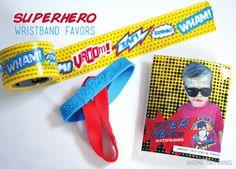 Superhero Wristband Washi Tape Favors